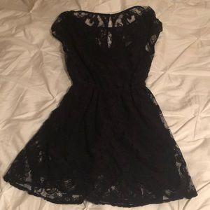 Holister black lace dress